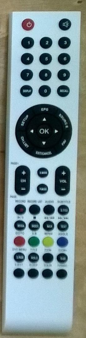 Sencor SLE22F54M4 original remote control. It was replaced by RC-D3-03