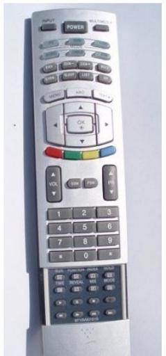 LG 6710900151S náhradní dálkový ovladač stejného vzhledu.