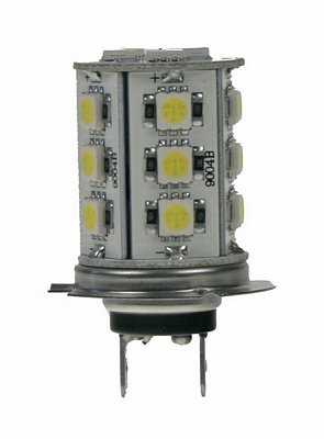 LED žárovka 12V, H7, 18LED/3SMD