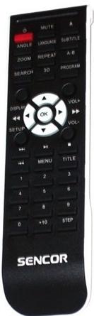 Sencor SDV6109/SDV2509 originální dálkový ovládač