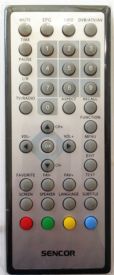 Sencor SPV6706 Originální dálkový ovládač