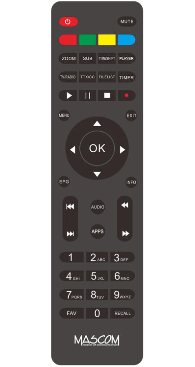 Mascom MC751T2 HD originální dálkový ovladač