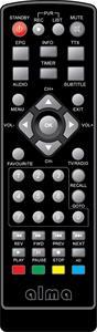 Alma HEVC ALMA 2880/TESLA TE-380 mini originální dálkový ovladač