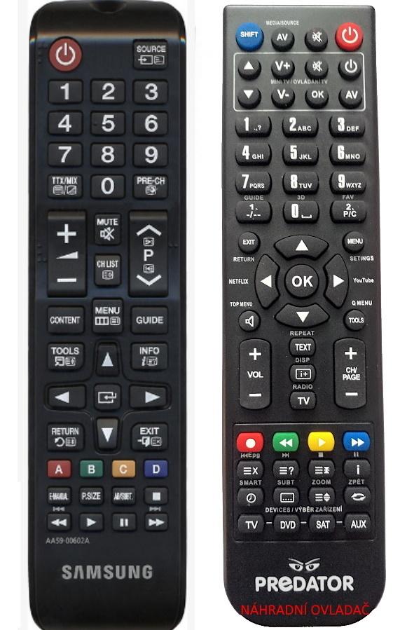 Samsung  AA59-00602A TM1240 náhradní dálkový ovladač jiného vzhledu