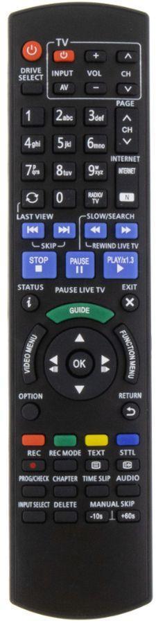 Panasonic N2QAYB000759 náhradní dálkový ovladač stejného vzhledu