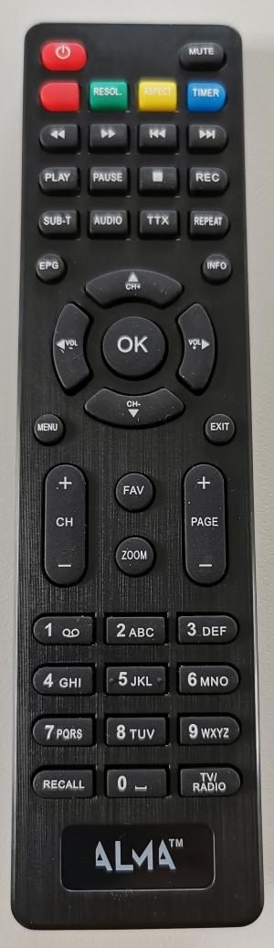 ALMA HEVC 2800 originální dálkový ovladač - pokud jste měli stejný ovladač
