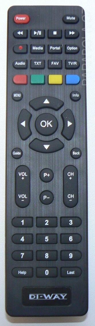 DI-WAY IRD-265, HD-BOX HS-265 originální dálkový ovladač