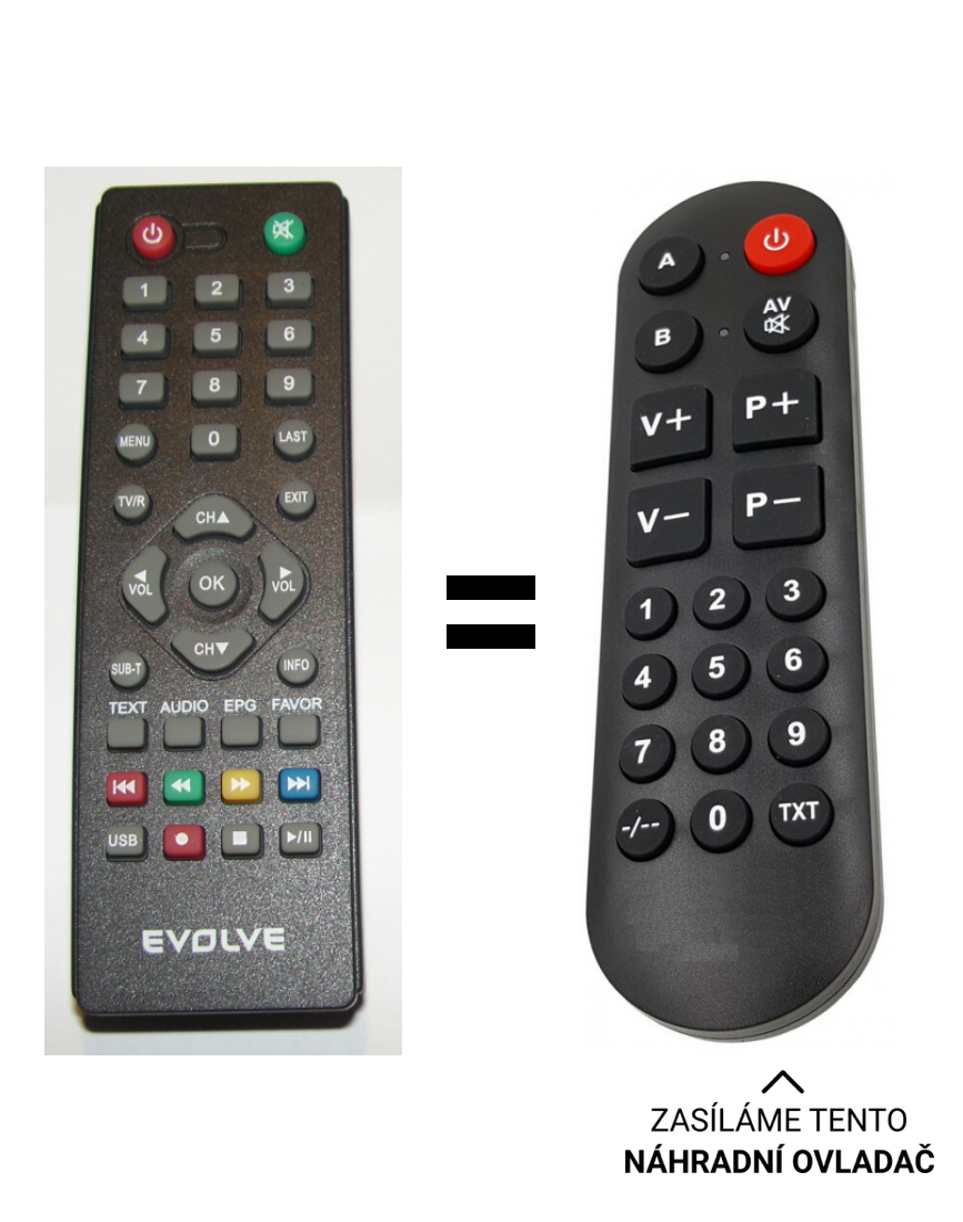 Evolve DT-3030HD replacement remote control for seniors.