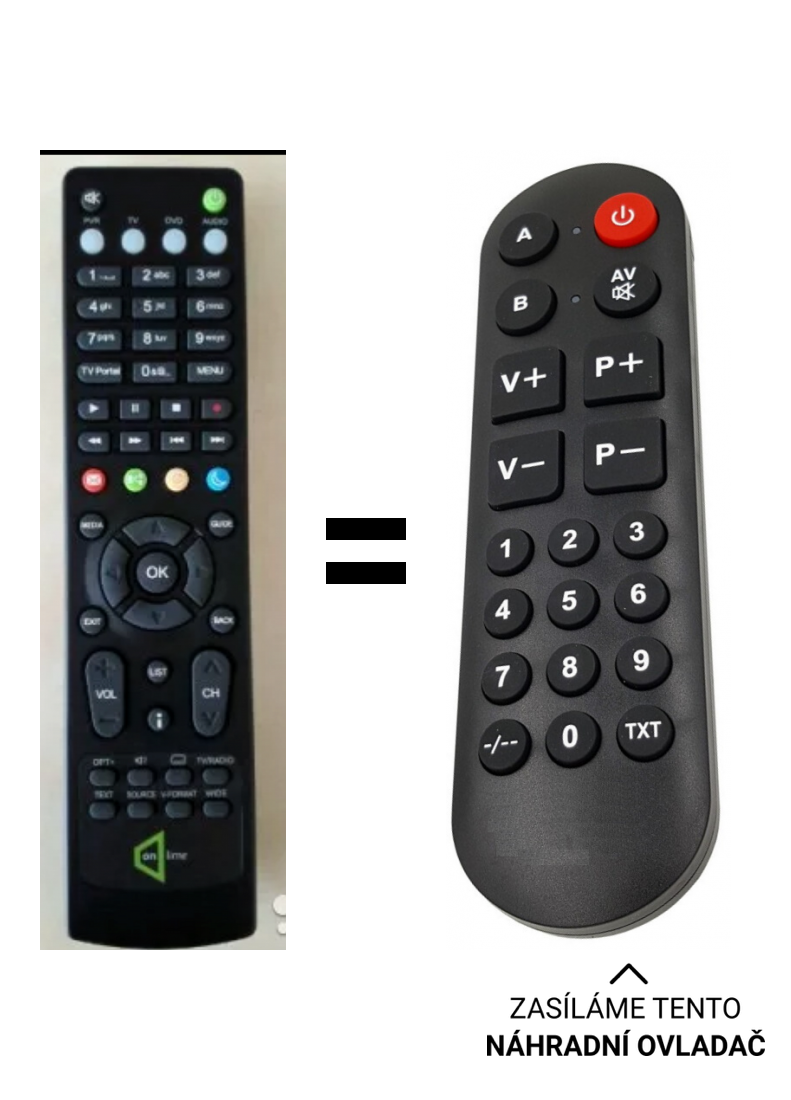 Humax IR HD5100s RM-E06 replacement remote control for seniors