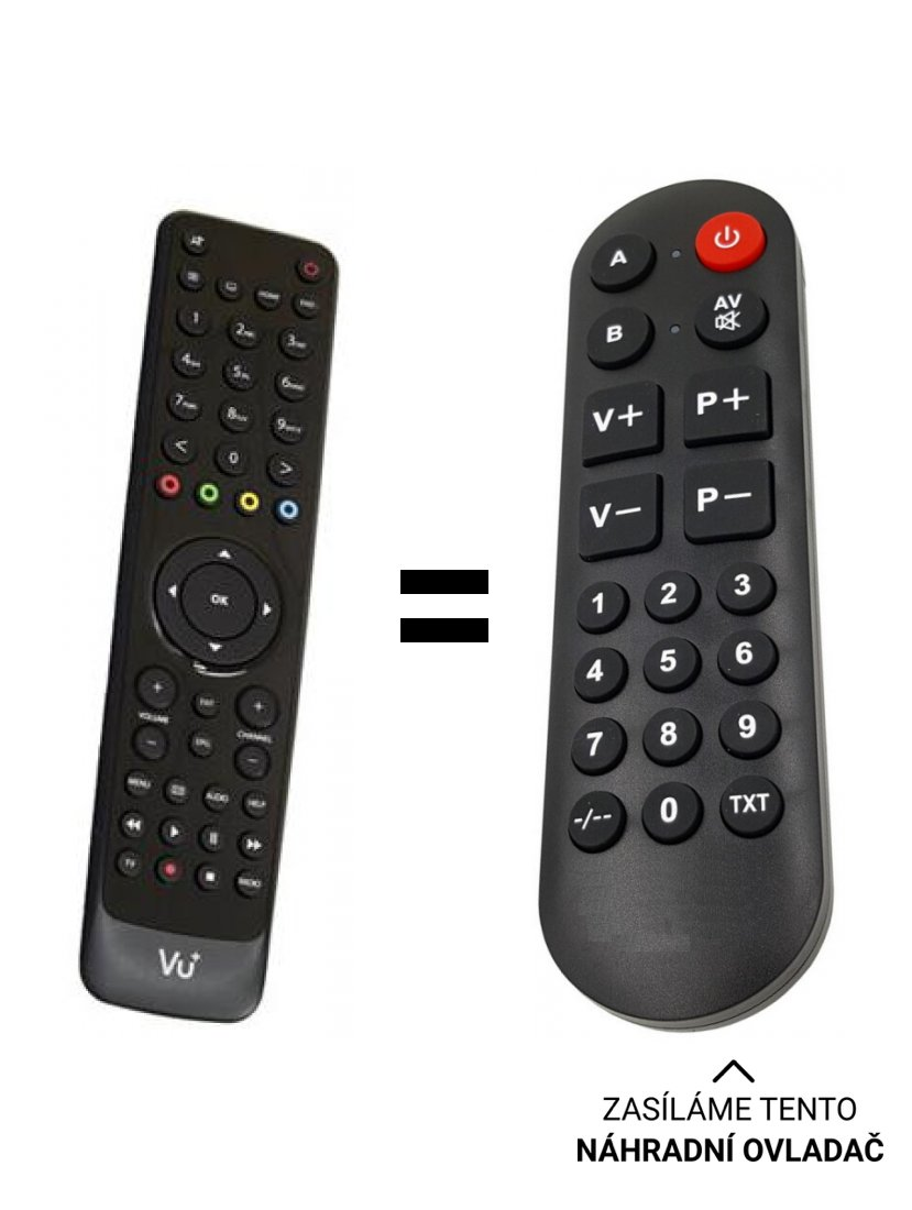 V + Solo replacement remote control for seniors.