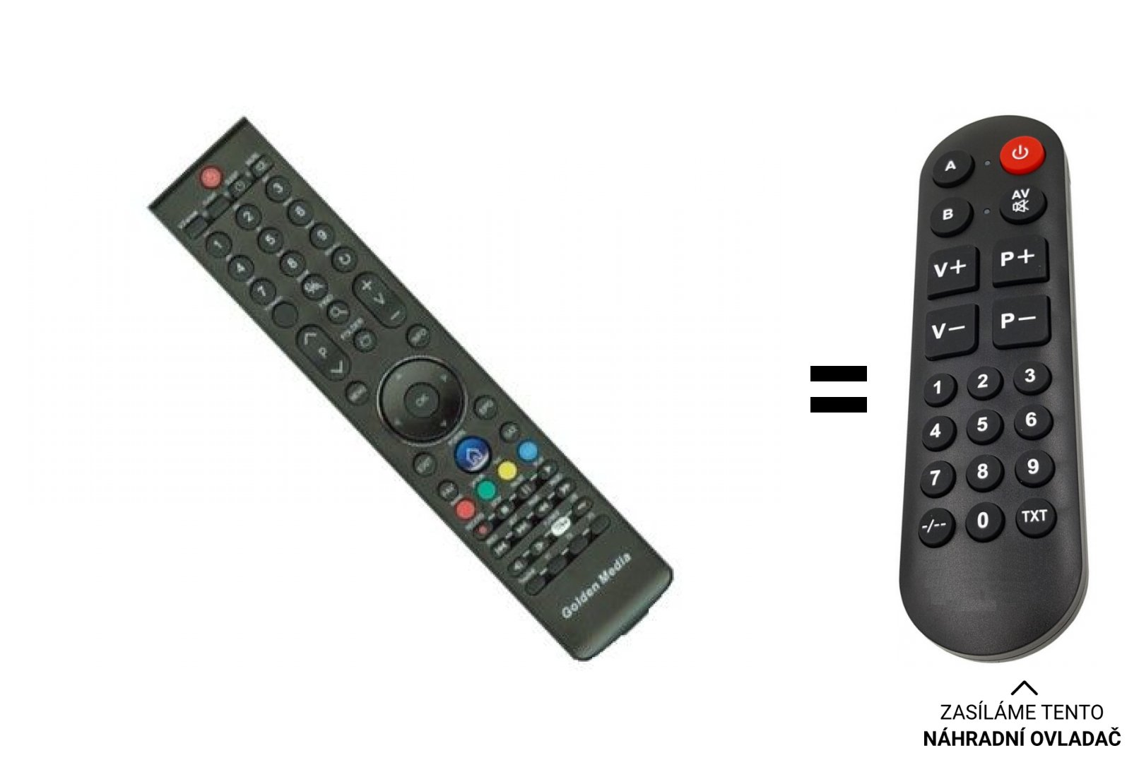 Golden media GM Spark reloaded replacement remote control for seniors