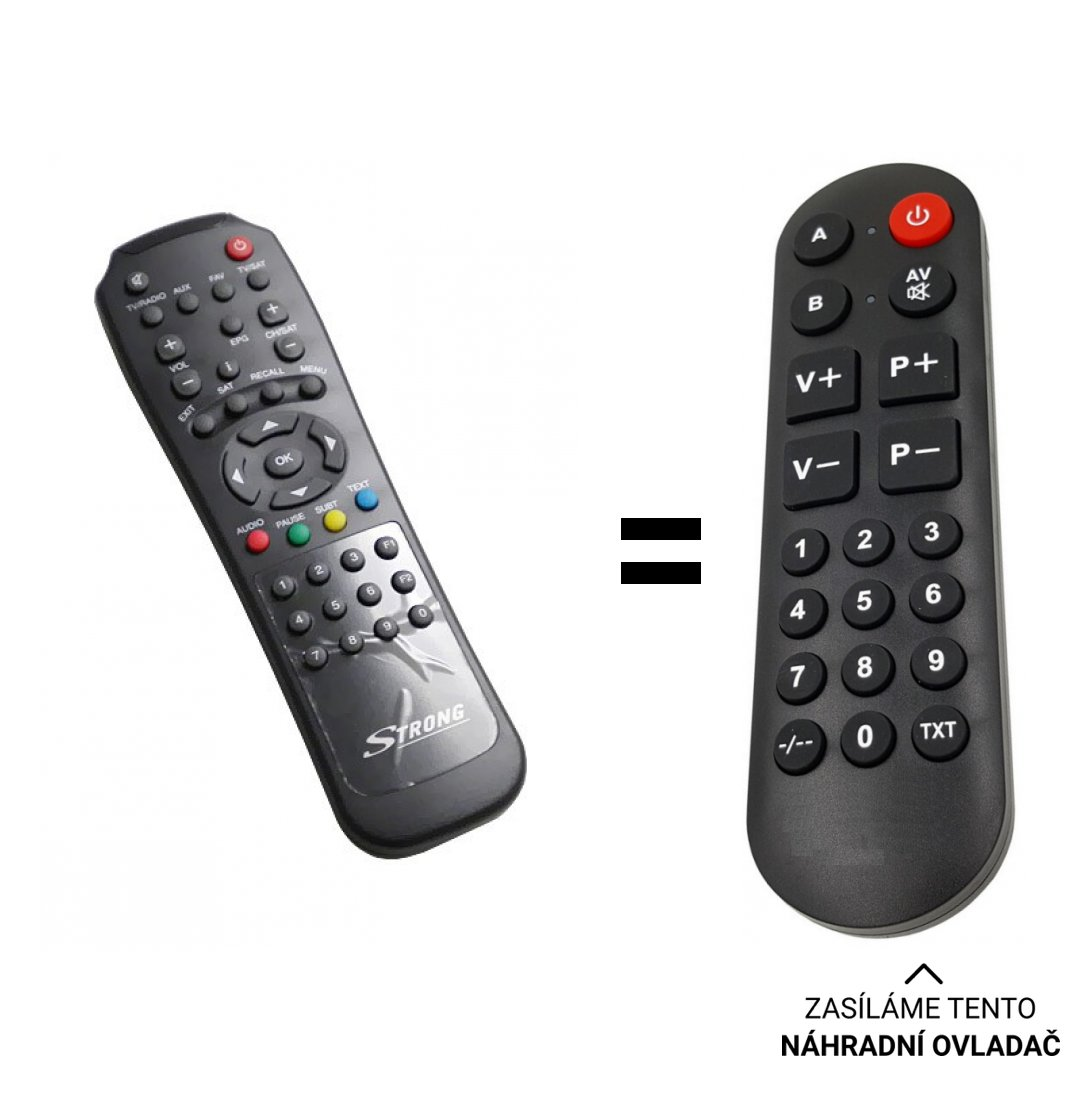 Strong SRT4500 replacement remote control for seniors.