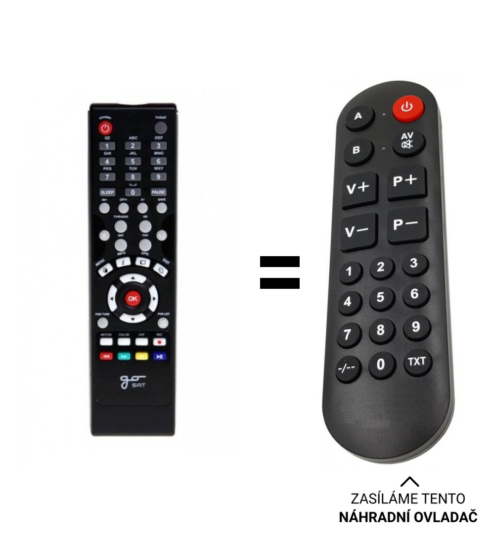 Gosat GS2040CR GS2050CRCI replacement remote control for seniors.