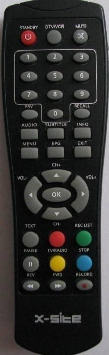X-SITE XS-DVBT-21USB náhradní dálkový ovladač jiného vzhledu.