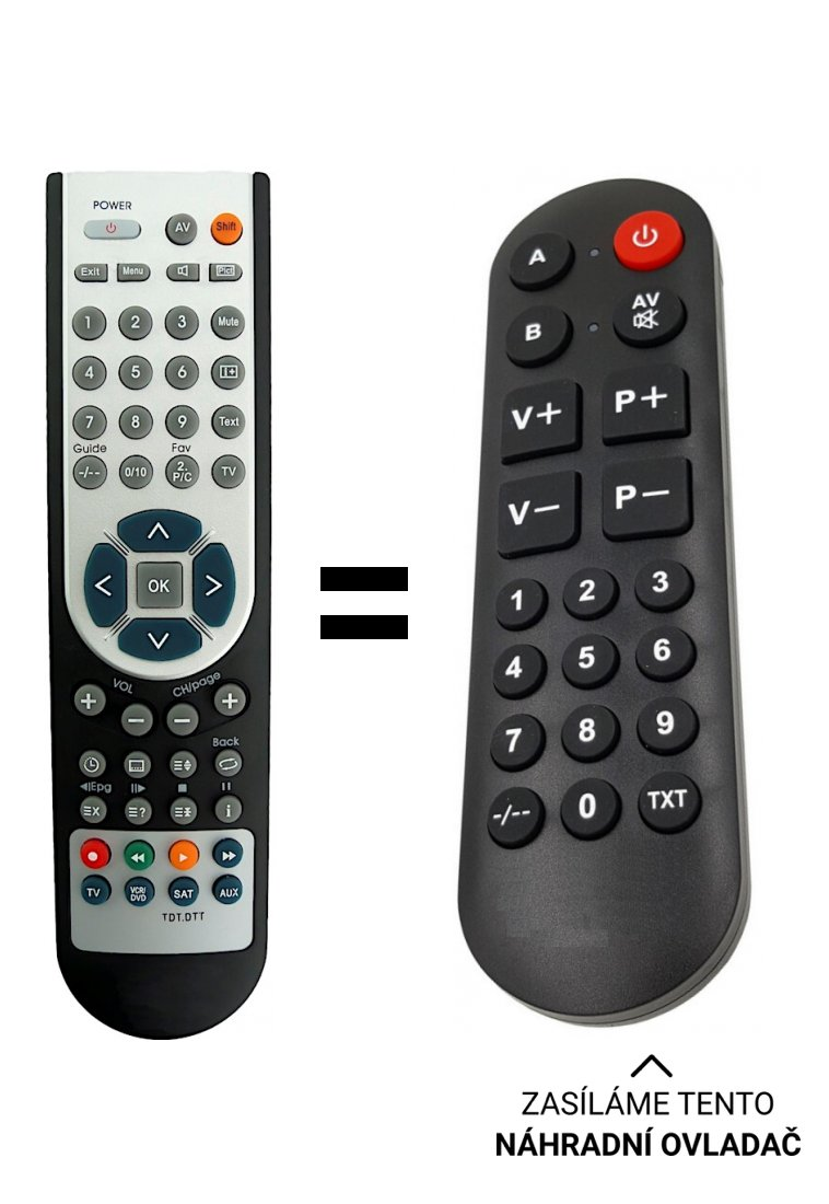 COMAG - SL65 / 2 RG405DS2 = RG405DS5 replacement remote control for seniors.