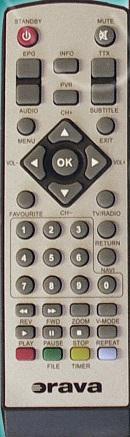 Orava DVB-13, DVB13  náhradní dálkový ovladač jiného vzhledu