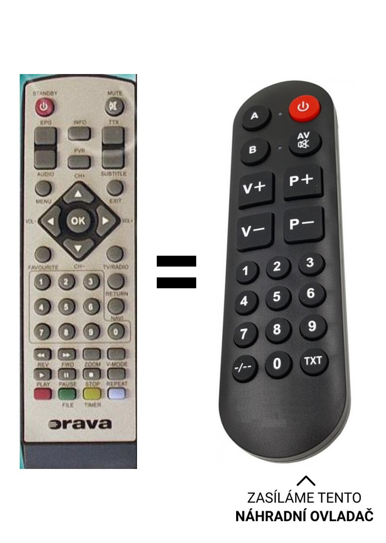 Orava DVB-13, DVB13 replacement remote control for seniors