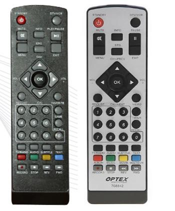 Optex ORT8842 ORT-8842 náhradní dálkový ovladač jiného vzhledu.