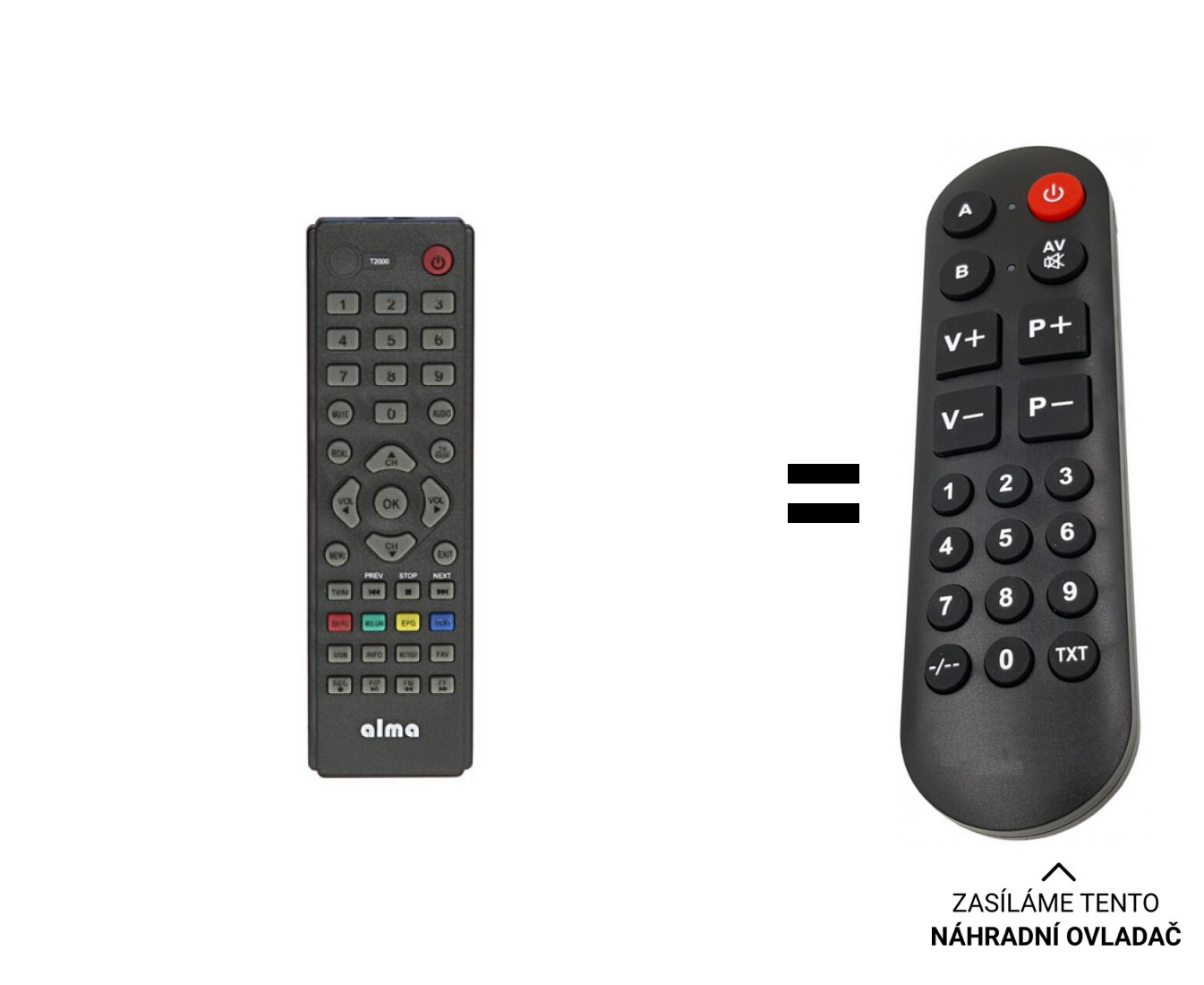 Alma T2000 replacement remote control for seniors