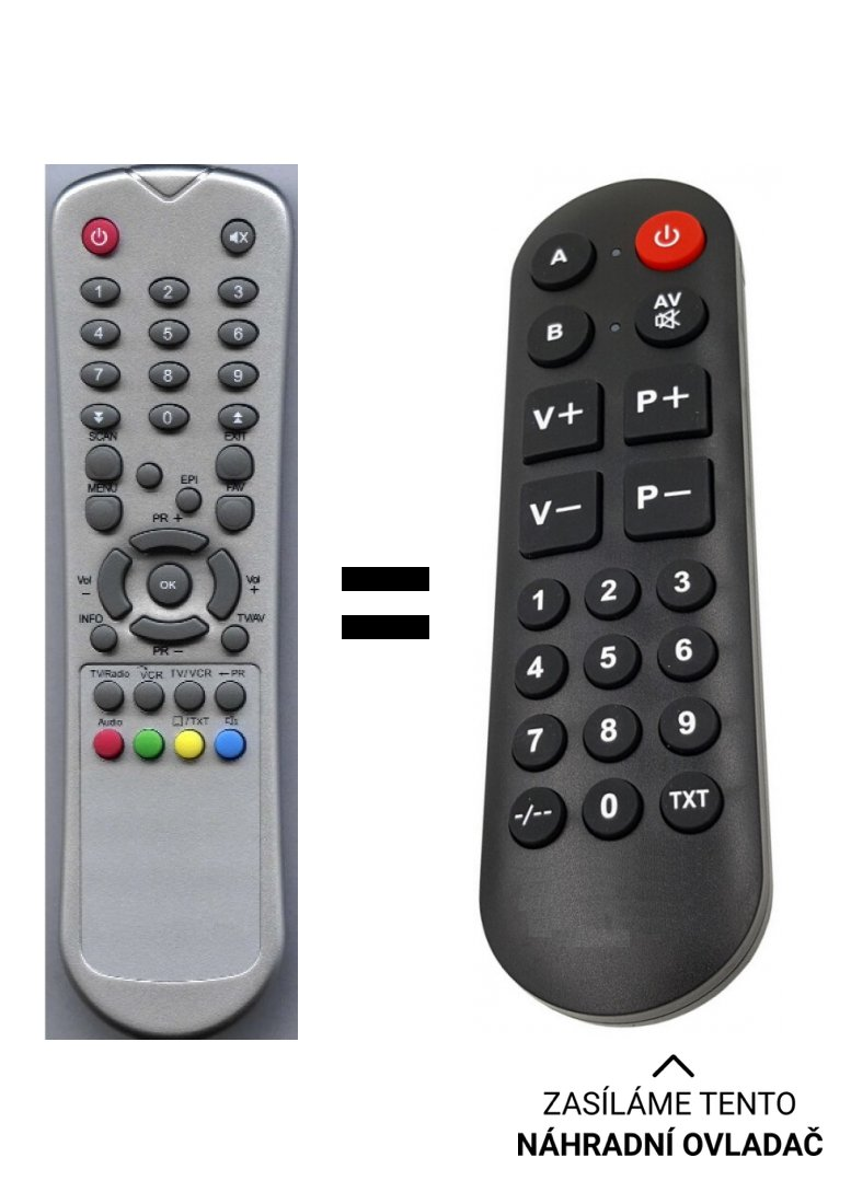 Telestar SR20, TR20, SX20, TX20, SR22, TR22 replacement remote control for seniors.