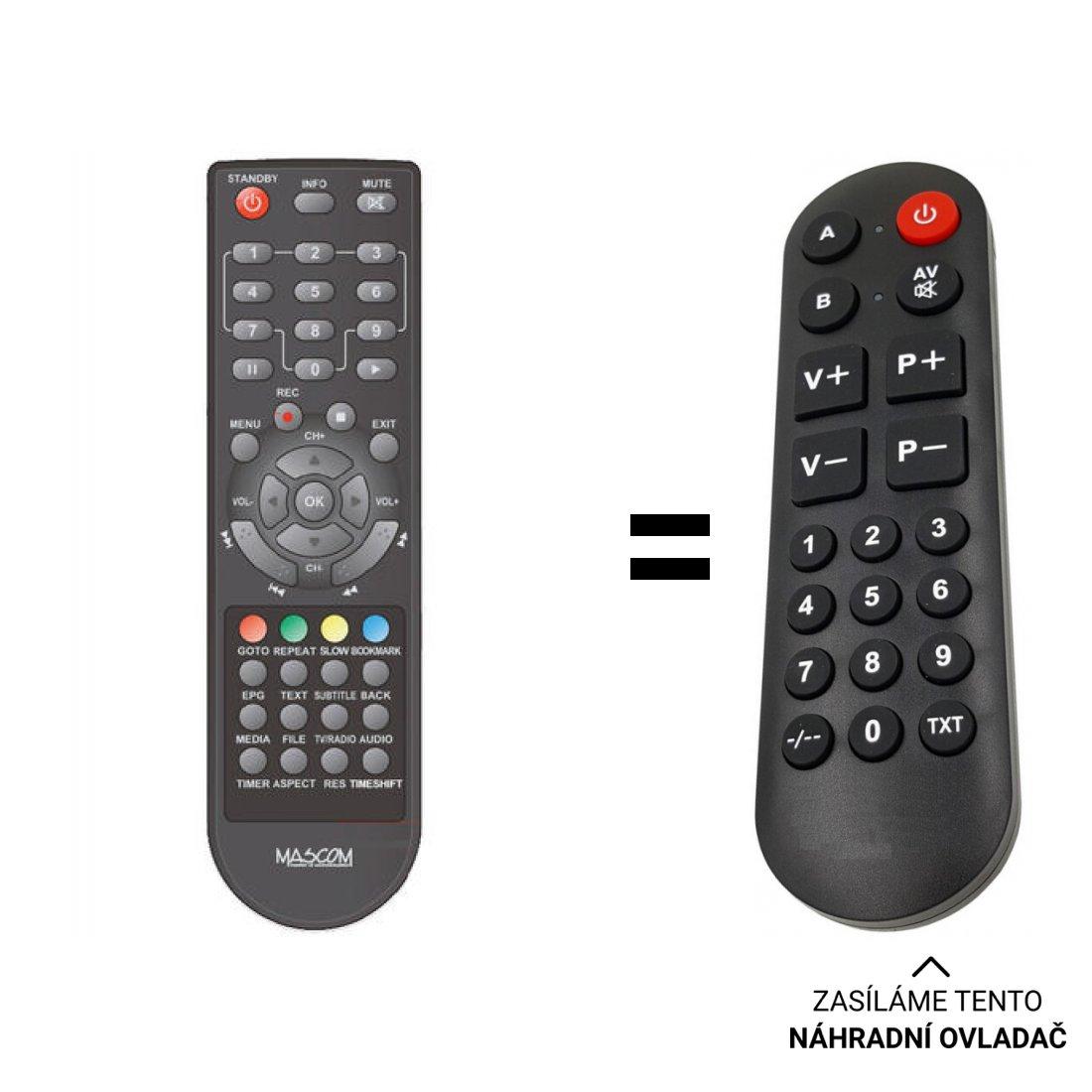 Mascom MC2202HDCI replacement remote control for seniors