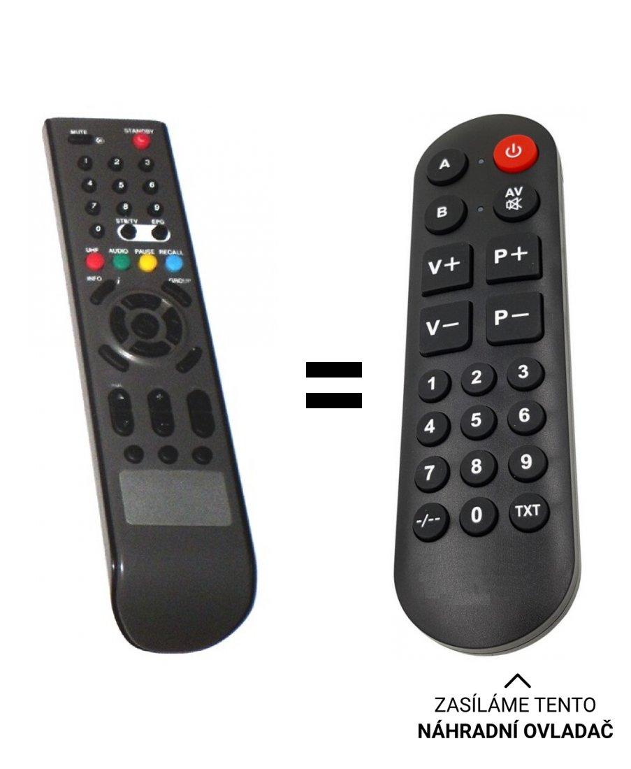 GoSat GS-2020CRCI, GS-2000CR replacement remote control for seniors