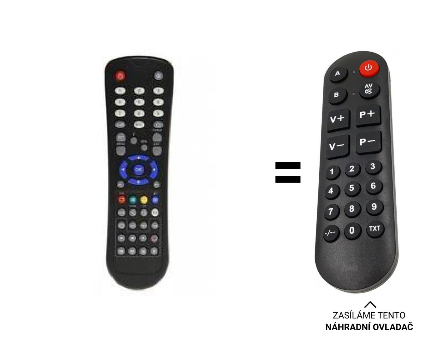 Golden media 9060, 9080, Opticum 7300. replacement remote control for seniors.