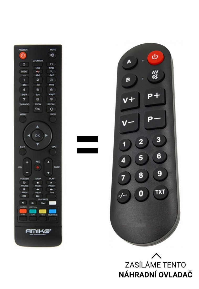 Amiko Impulse replacement remote control for seniors