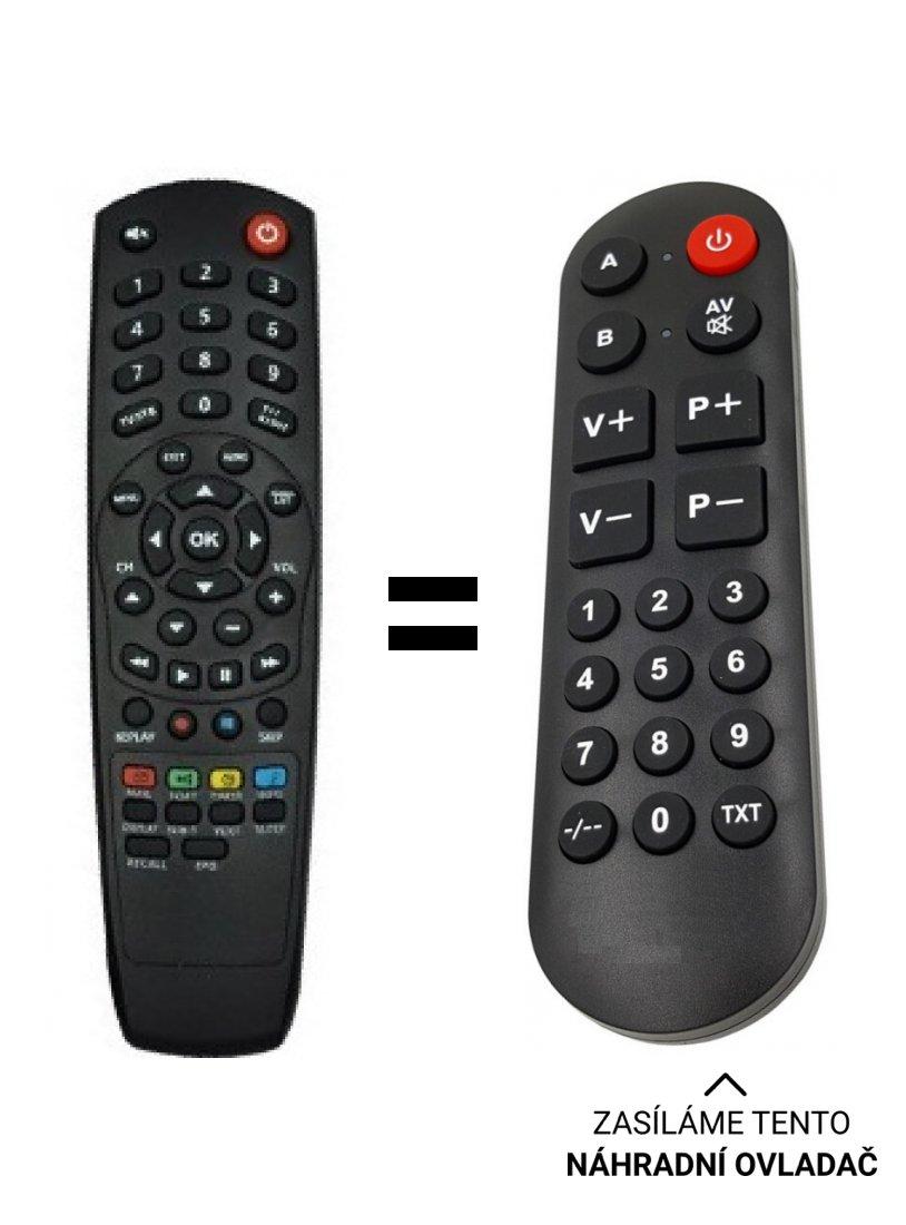 Kaon KCF-SA700PCO replacement remote control for seniors