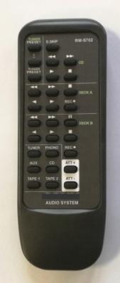 SONY RM-S702 ,TA-F590ES  náhradní dálkový ovladač se stejným popisem