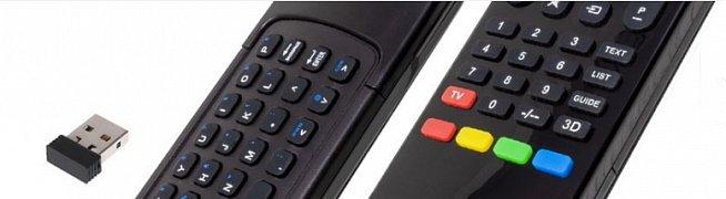 Samsung univerzální dálkový ovladač s klávesnicí pro jednoduché ovládání internetu a psaní.