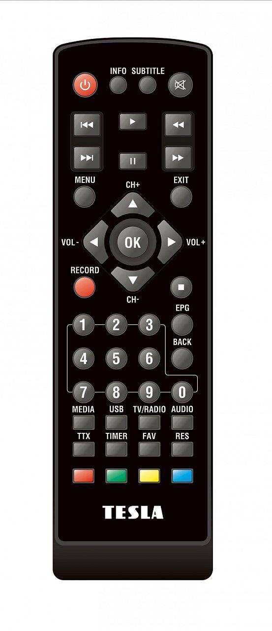 TESLA Vista T2  náhradní dálkový ovladač jiného vzhledu.