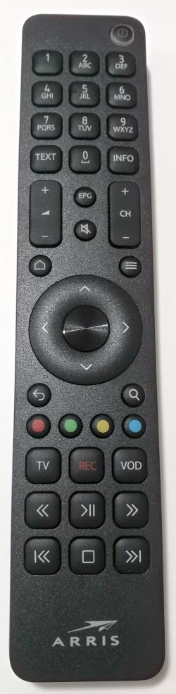 Arris VIP4302 originální dálkový ovladač BLUETOOTH bez vysílací diody