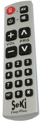 Ovladač dálkový SEKI EASY PLUS pro seniory, hotely - univerzální - velká tlačítka