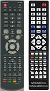 Venturer Combo TV+DVD 15´lcd/dvd 206CE  náhradní dálkový ovladač