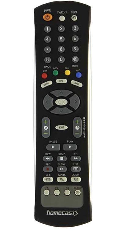 Homecast originální dálkový ovladač