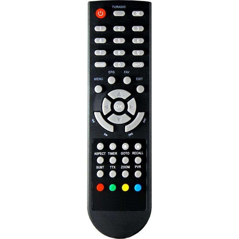 Set-top box ALMA 2800 SE, DVB-T2 H.265 (HEVC) originální dálkový ovladač