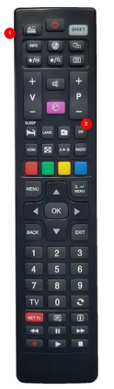 Telefunken univerzální dálkový ovladač - stejný popis jako originál,  pro TV od roku 2000