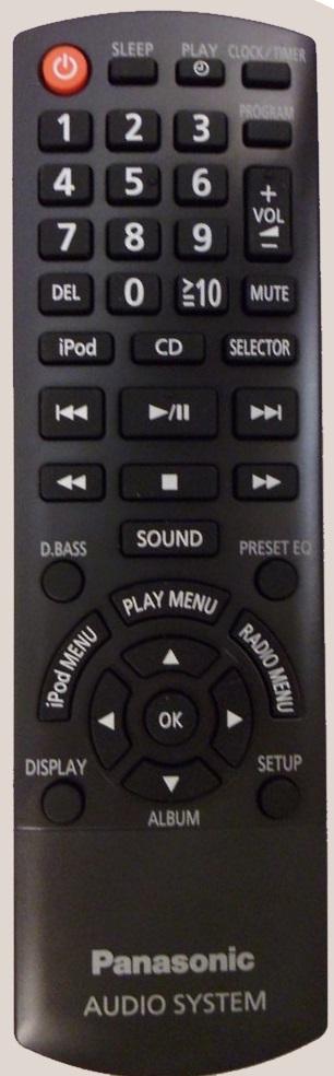 Panasonic N2QAYB000896 originální dálkový ovladač