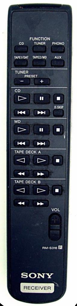 Sony náhradní dálkový ovladač  RM-S316 pro modely TA-FE910R, TA-FE710R, TA-FE570, TA-FE370S