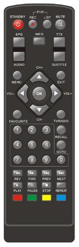 XORO HRS 8500,HRS 8520 náhradní dálkový ovladač jiného vzhledu