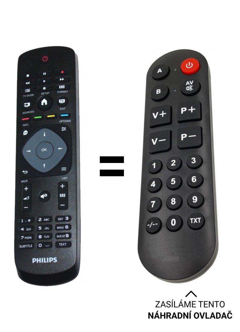 Philips 398GR8BD1NEPHH, 996590009443 náhradní dálkový ovladač pro seniory