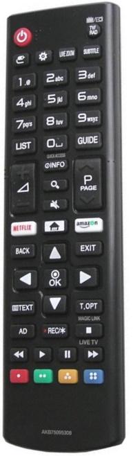 Náhradní dálkový ovladač AKB75095308 pro LG Smart 3D LED LCD HDTV TV