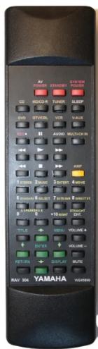 YAMAHA RAV304, RAV306, RAV307, RAV309 náhradní dálkový ovladač se stejným popisem