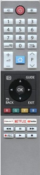 Toshiba CT-8528 náhradní dálkový ovladač jiného vzhledu