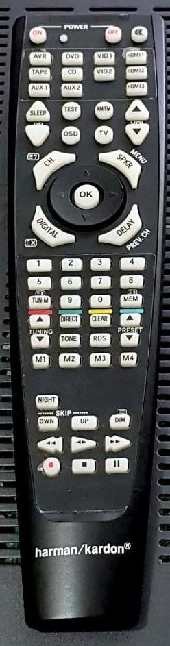 HARMAN KARDON AVR-158, AVR-155, AVR-134 náhradní dálkový ovladač jiného vzhledu