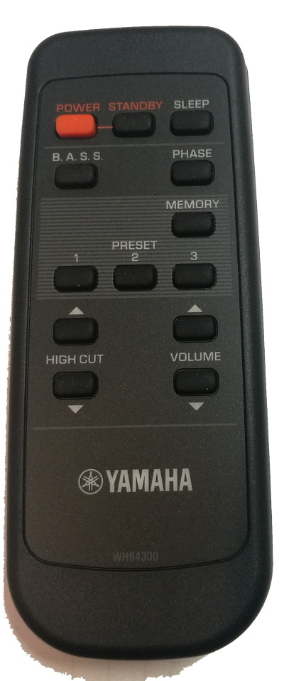 Yamaha RRS9001-6702EM originální dálkový ovladač WH643000