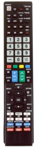 Sharp univerzální dálkový ovladač pro TV od roku 2000 s funkcí učení se.