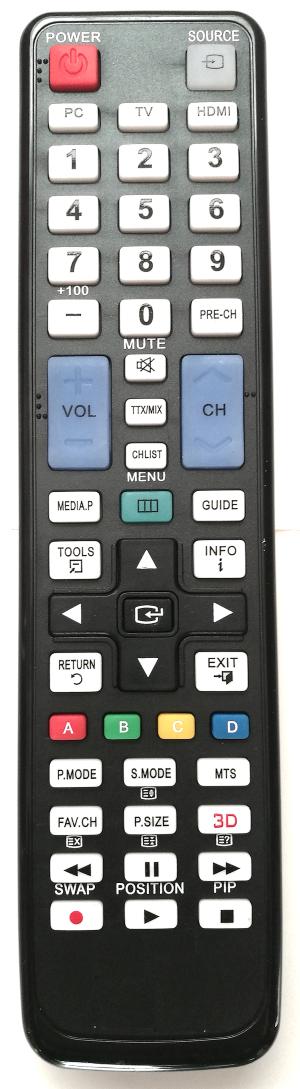 Samsung univerzální dálkový ovladač pro TV od roku 2000 s funkcí učení se.
