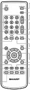 Sharp LC-32RA1E, LC-37RA1E Náhradní dálkový ovladač jiného vzhledu